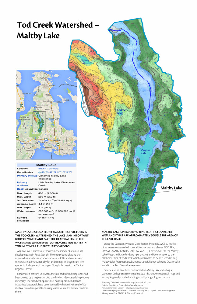 Maltby Lake - Tod Creek Watershed (Tabloid)